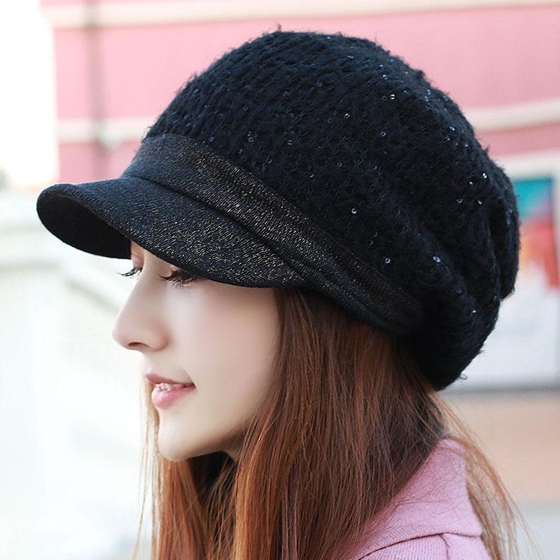 正品[女帽子秋冬帅气]女帽子时尚秋冬评测 女帽
