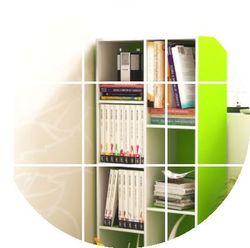 空间大师木质小柜四层带门收纳柜类储物柜自由组合书柜书架四格柜
