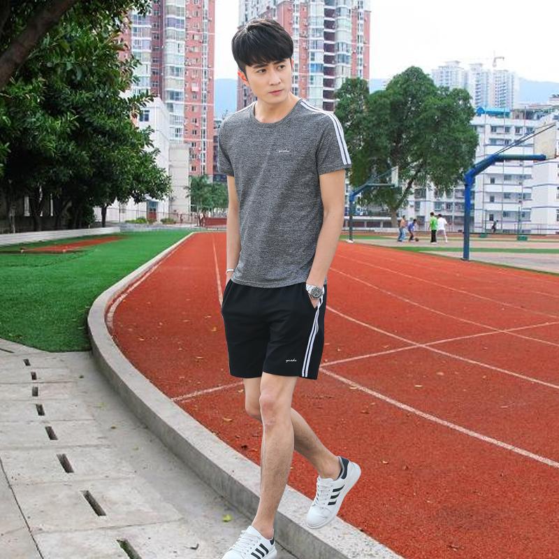 夏季短裤跑步休闲运动装运动套装两件套短袖