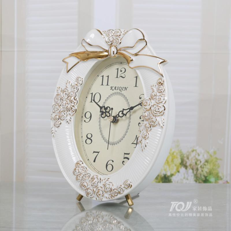 包邮凯琴陶瓷欧式时钟床头座钟创意坐钟摆件现代时尚