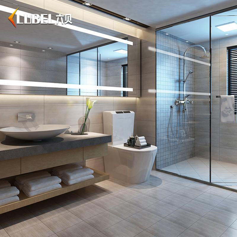 北欧宜家仿木纹卫生间地砖地板砖防滑浴室瓷砖墙砖墙面砖 300 600