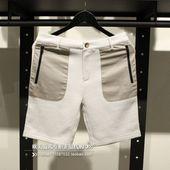 休闲短裤 杰克琼斯 五分裤 灰色针织纯棉舒适男款 欧美范儿专柜正品