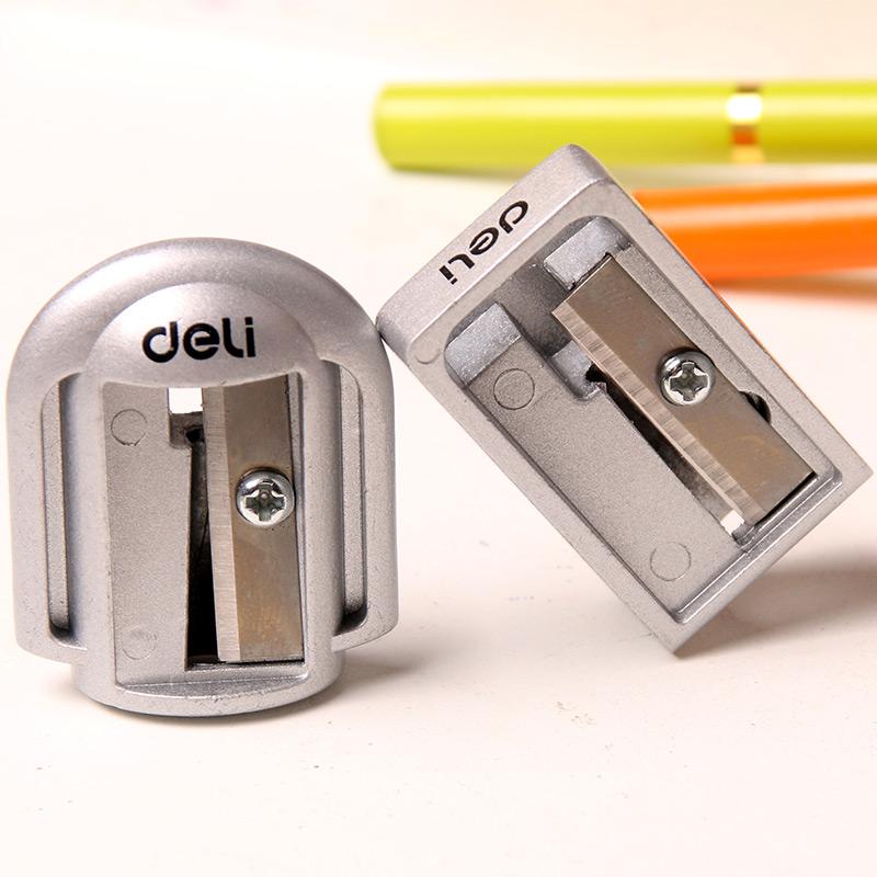 得力金属转笔刀 学生削笔器 锌合金削笔刀33g旋转铅笔刀