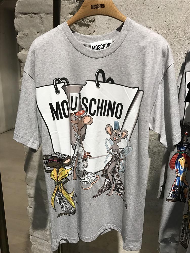意大利专柜代购 MOSCHINO莫斯奇诺 17春夏老鼠图案T恤 39728197mr