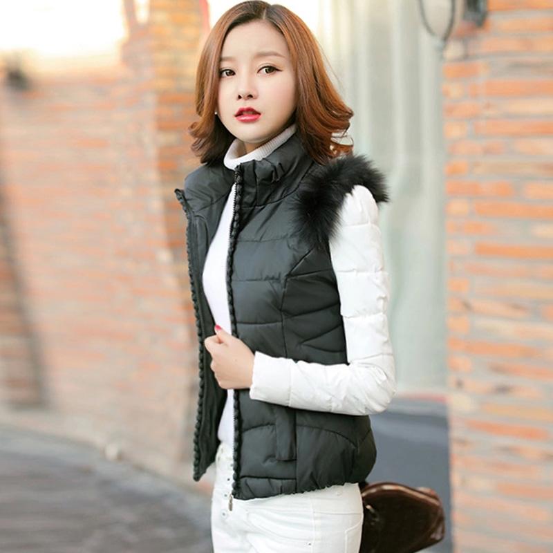 2016冬季新款韩版大码女装立领时尚百搭修身加厚短款棉衣棉服外套
