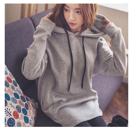 【天天特价]大款加绒加厚卫衣女冬装宽松外套头中长款韩版潮学生