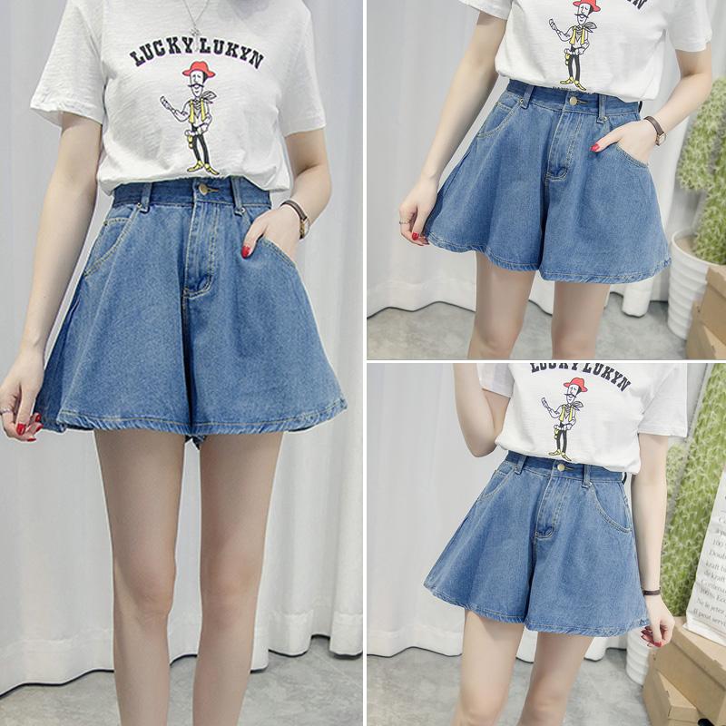 短裤宽松显瘦阔腿夏季高腰学生裙裤牛仔裤热裤裤裙