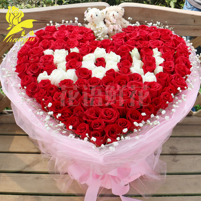 广州鲜花速递红玫瑰花生日花束深圳北京上海杭州同城花店送花上门