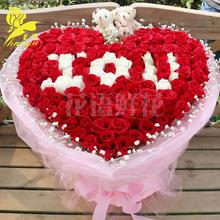 广州鲜花速递红玫瑰花生日花束深圳北京上海杭州中山同城花店送花