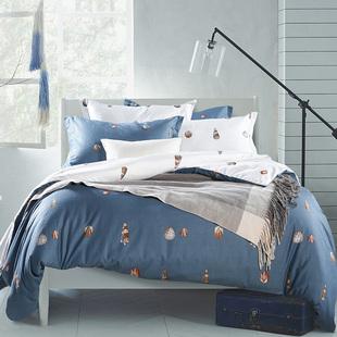 美式田园纯棉四件套简约双人全棉床上4件套床品套件家纺床上用品