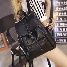 女士背包潮流休闲学院风旅行包包 双肩包女水洗皮时尚 新款 2016韩版