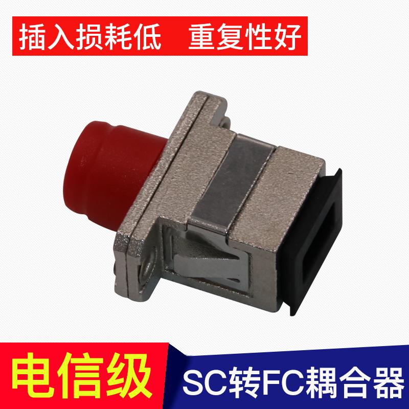 光纤耦合器SC-FC光纤转接头SC转FC光纤转换器法兰盘方转圆电信级