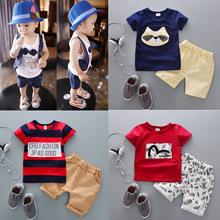 男童装夏装宝宝两件套儿童短袖短裤套装2017新款韩版儿童套装夏潮