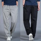 纯棉工装 男士 夏季运动裤 加肥加大男裤 薄款 休闲裤 加大码 男长裤