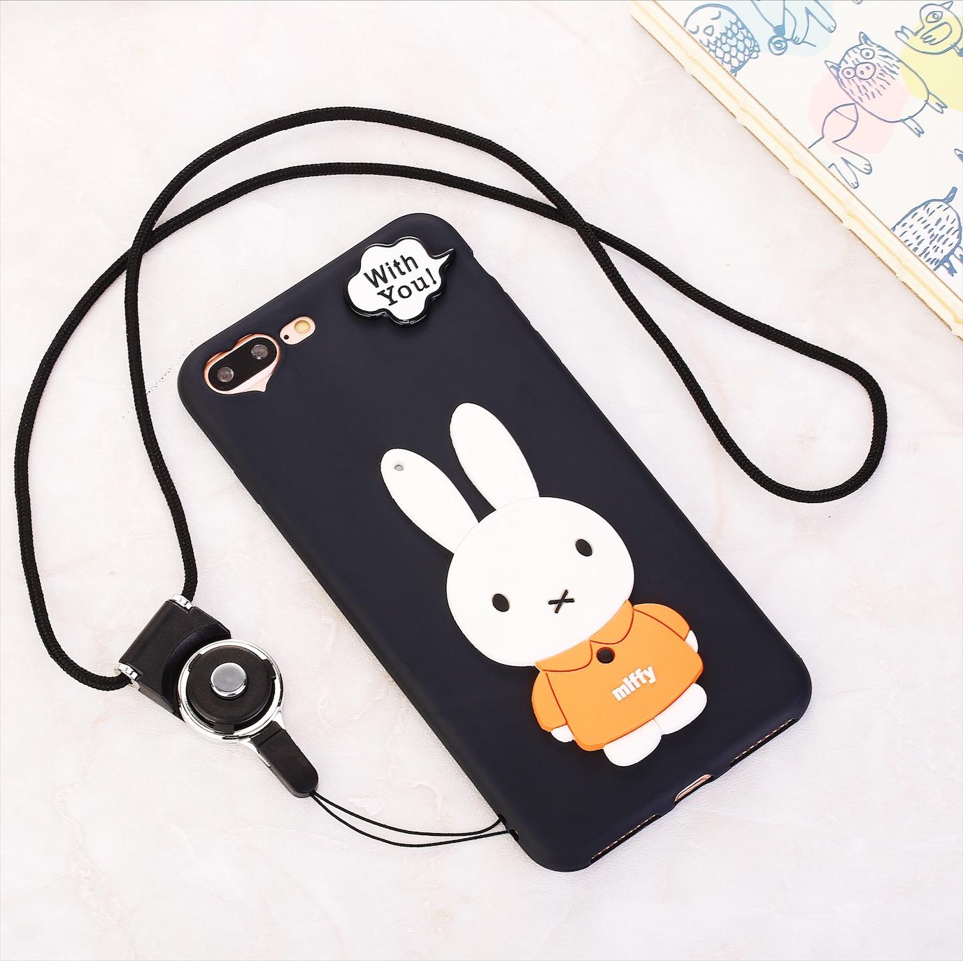 iPhone7手机壳可爱兔子熊苹果7Plus 卡通保护套6s 软壳女款硅胶6P