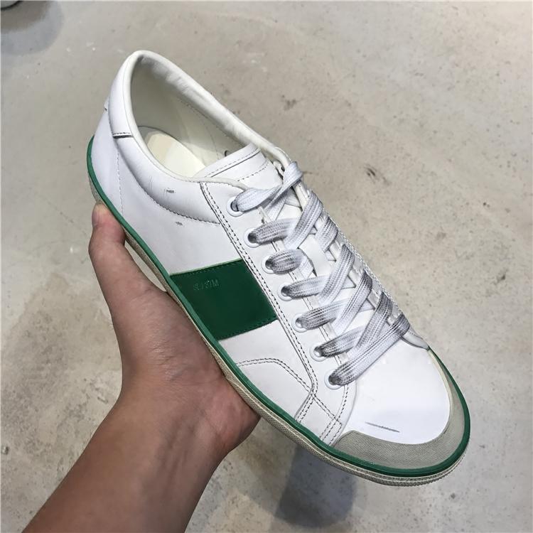 allahn潮牌高端定制2017新品小白鞋 拼色做旧磨破脏脏鞋 流行男鞋