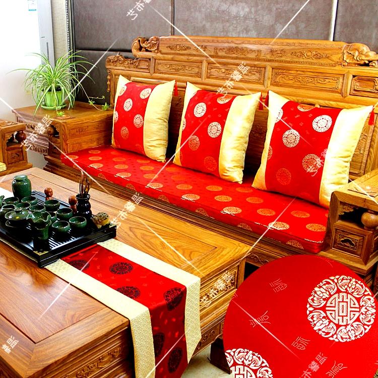 发坐垫古典实木家具坐垫罗汉床垫太师椅布艺餐椅垫定制中式红木沙