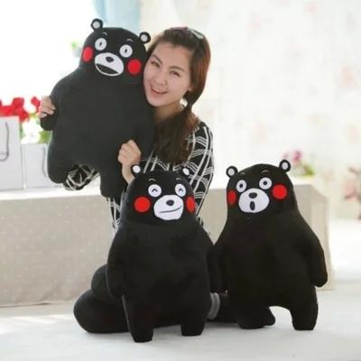 正版大号熊本县熊公仔 1.2米黑熊毛绒玩具呆萌熊抱枕布娃娃玩偶