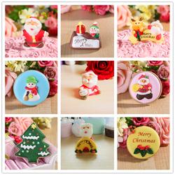 造型糖人蛋糕装饰可食用现成卡通造型圣诞老人糖牌糖片树麋鹿雪人