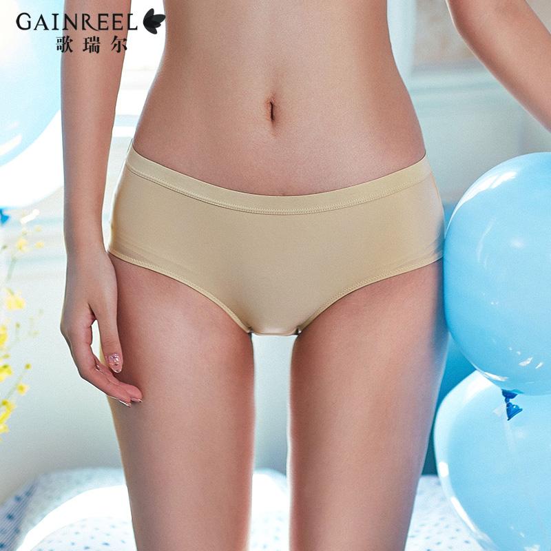 歌瑞尔新款时尚百搭性感提臀平角裤舒适中腰女士内裤底裤衩影恋