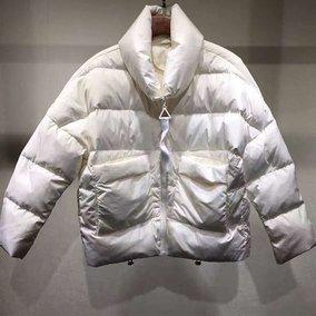 欧洲站2016新款冬装女装时尚休闲韩版长袖立领宽松面包羽绒服短款