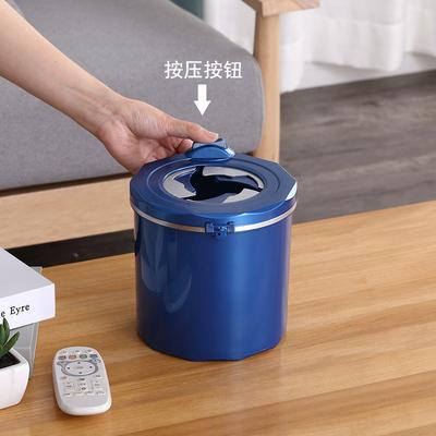 创意桌面垃圾桶带盖开关式小号家用客厅卧室床头创意垃圾筒小纸篓