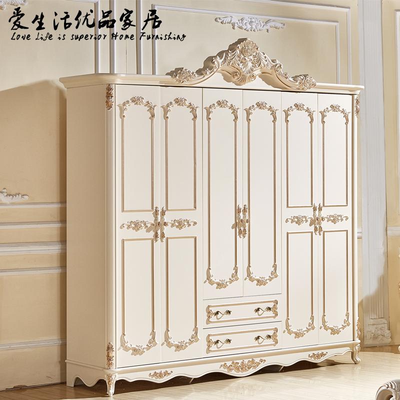 超大6门六门衣柜五5门衣橱立柜卧室法式欧式烤漆描金
