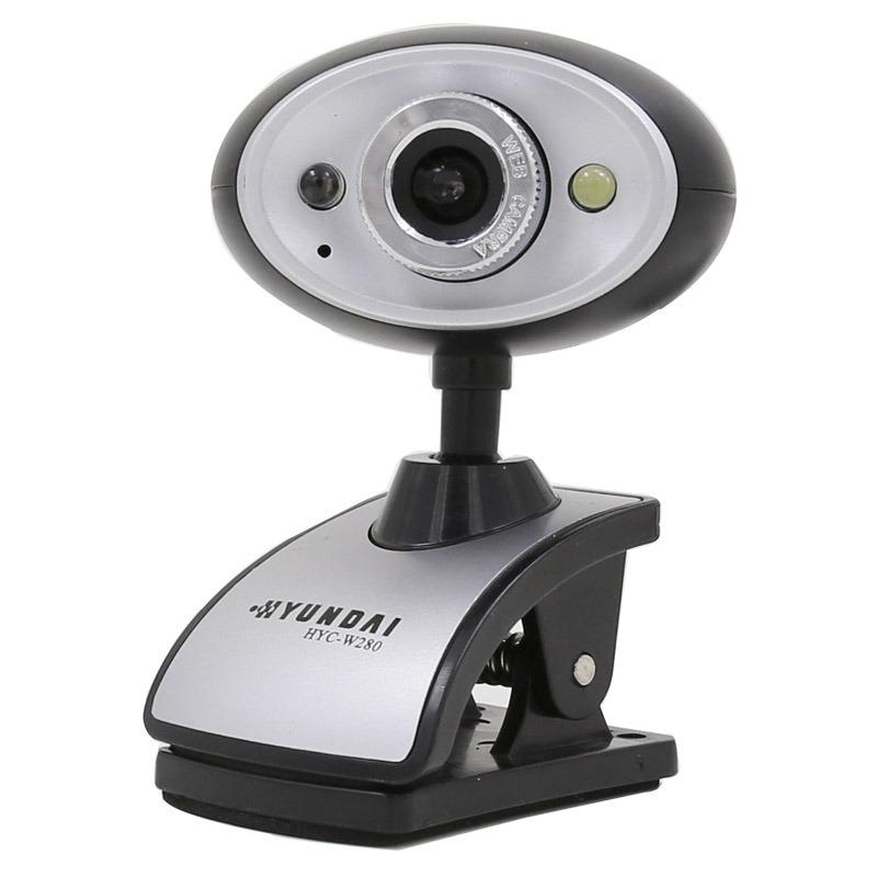 现代(HYUNDAI)摄像头电脑台式机免驱网络高清内置麦克风 HYW280