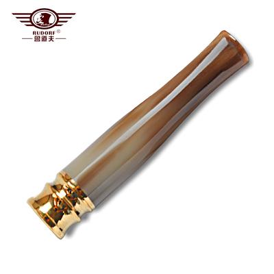 鲁道夫牛角烟嘴 拉杆过滤器循环型可清洗香菸嘴 正品男士戒烟烟具