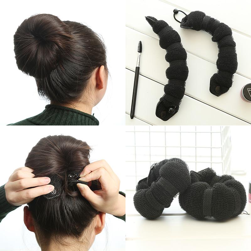 魔法美人时尚发饰盘发器丸子头造型器花苞头发圈工具发卡头绳头饰