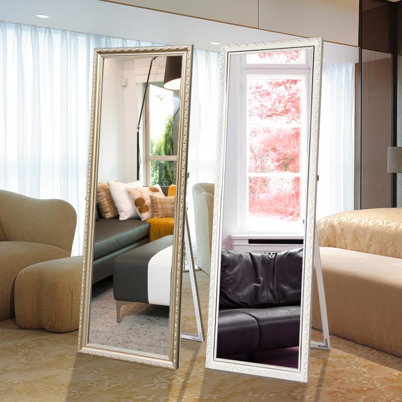欧式穿衣镜子全身镜落地镜服装店试衣镜壁挂