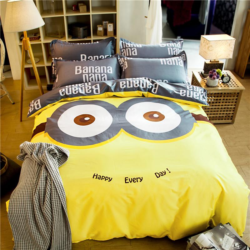 被套四件套三件套学生床上用品卡通儿童被罩床单纯棉
