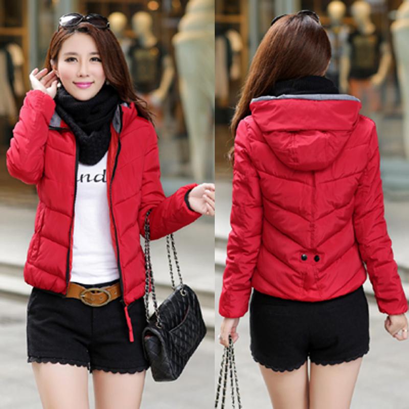 2017时尚冬装新款 韩版修身轻薄休闲羽绒服女短款 糖果色女装外套