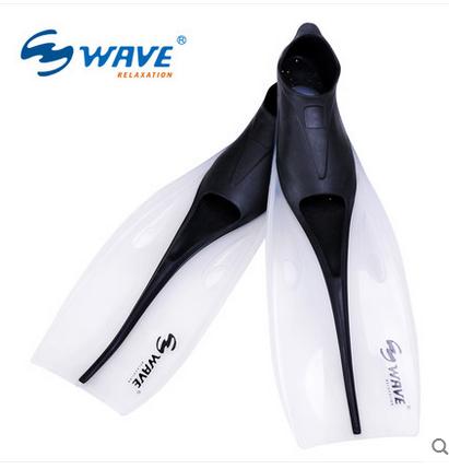 超韧姓硅胶浮潜鸭蹼游泳训练装备长蛙鞋专业潜水脚蹼wave正品