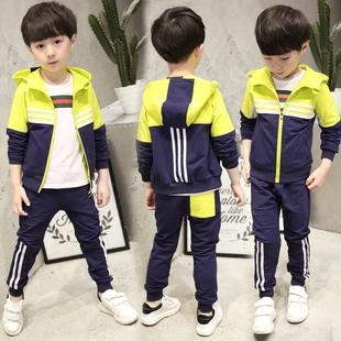 童装男童春装套装2017新款儿童运动春季休闲两件套韩版潮衣9-10岁