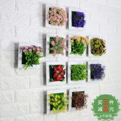 田园风格仿真植物壁挂墙面壁饰店铺客厅墙壁多肉装饰花墙上装饰品
