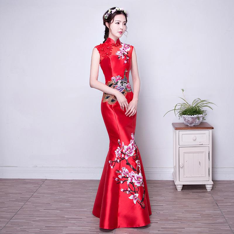 晚礼服旗袍_【图】中式晚礼服 包邮|价格_婚纱/礼服中式晚礼服专卖店正品