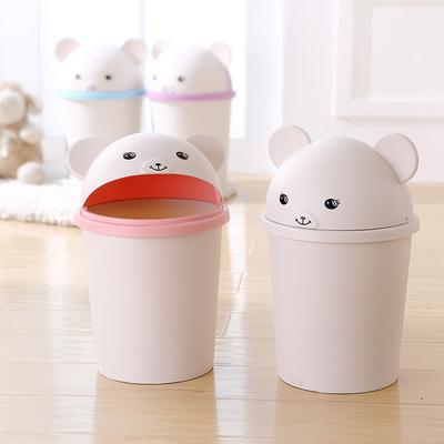 川为创意家用垃圾桶卧室客厅卫生间有盖垃圾桶大号可爱翻盖垃圾筒