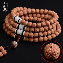 藏式尼泊尔龙鳞纹小金刚菩提子108佛珠手串项链圆籽肉纹男女沉水