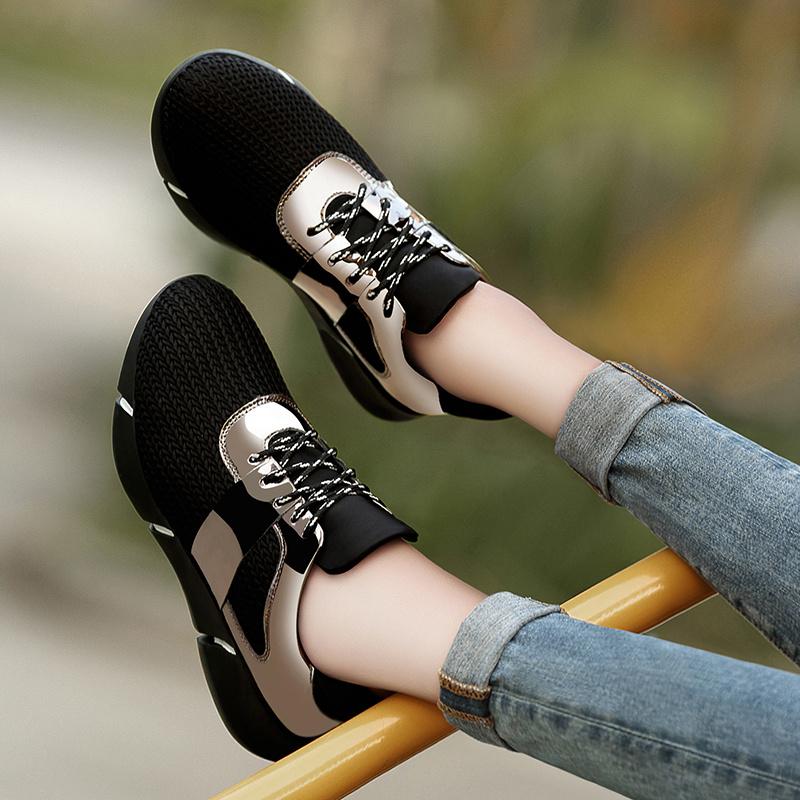 学生鞋子豆豆慢跑平底步鞋舒适单鞋运动鞋
