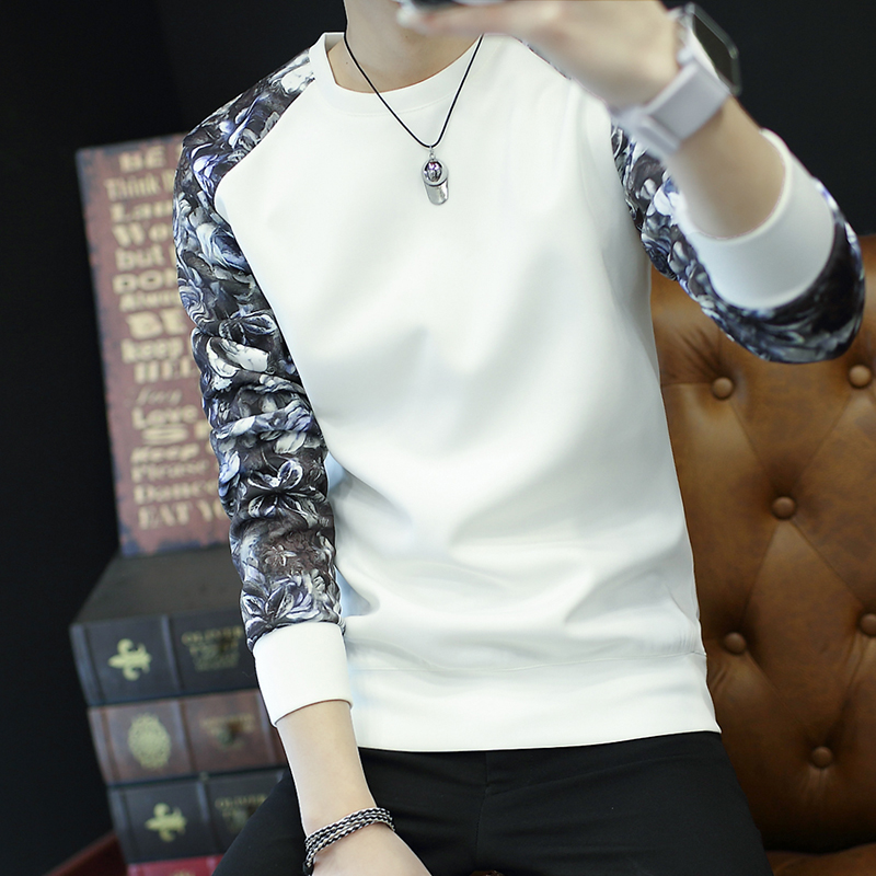 长袖保暖T恤男圆领衣服男士秋冬加绒加厚打底衫青年韩版大码男装