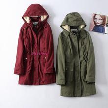 女装水洗棉休闲棉服长度过屁股冬季外套有特大码Y6111二件包快