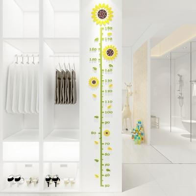 儿童房宝宝3d立体身高墙贴亚克力卡通测量身高尺可移除墙贴画装饰