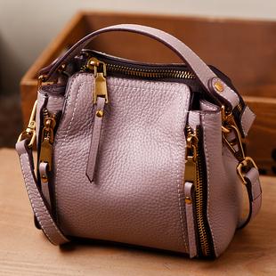女士小包包2017新款头层柔软牛皮水桶包真皮手提包斜跨女包迷你包