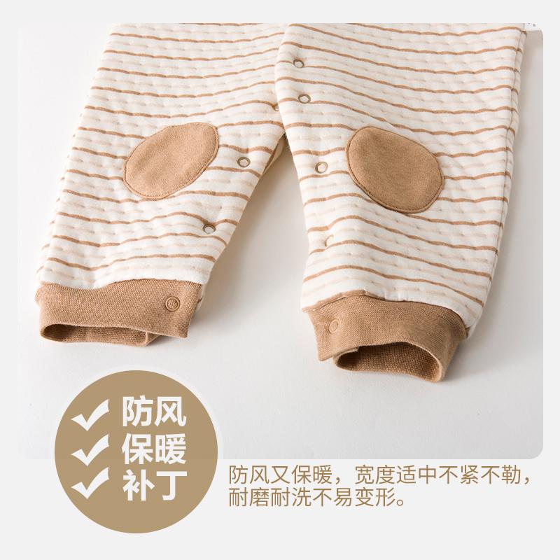 婴儿连体衣春秋装纯棉保暖0-1岁哈衣冬季新生儿男女宝宝婴儿衣服