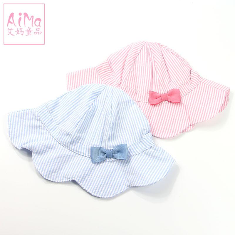 帽薄款女童儿童宝宝太阳帽帽子婴儿出游夏天渔夫凉帽遮阳