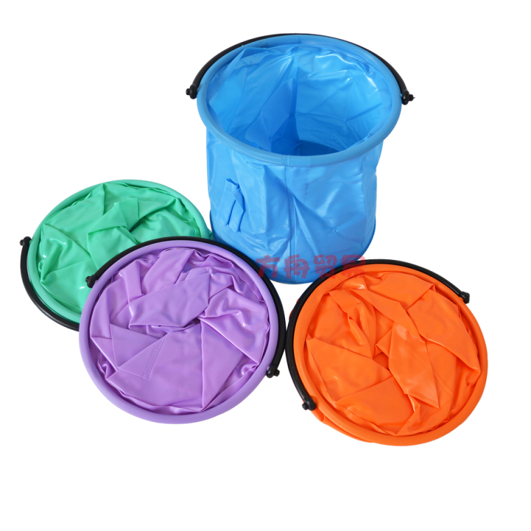 美术用品 帆布水桶 大号帆布隔层/小号 隔层伸缩水桶 可折叠水桶