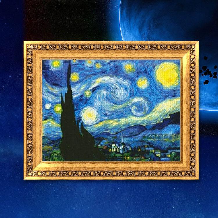 十字绣油画 梵高欧式精准印花风景手工客厅新款名画
