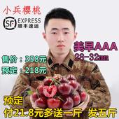 小兵樱桃创业店 美早AAA 烟台新鲜大樱桃 车厘子 共发五斤