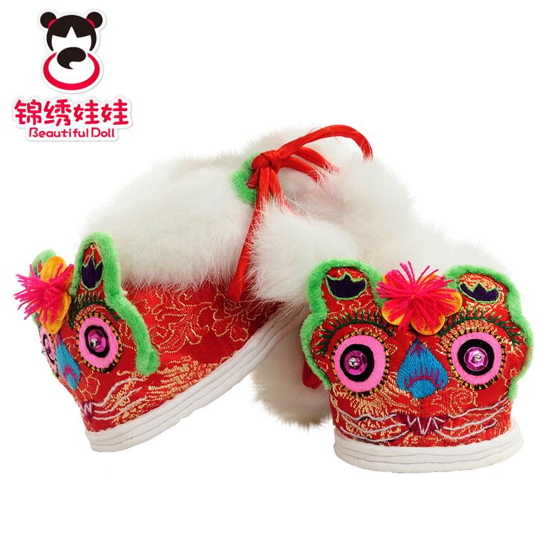 锦绣娃娃原创品牌婴儿宝宝鞋子男女棉鞋纯手工虎头鞋加厚款冬季